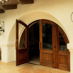 Arched Doorway - I've always loved arched entryways. This one reminds me of the front of a hobbit home.