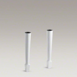 "KOHLER - KOHLER Harborview(TM) 26-5/8"" high fireclay legs (pair) - These table legs bring an element of style to the Harborview utility sink. Made from sturdy fireclay, they provide long-lasting durability as they support your sink."