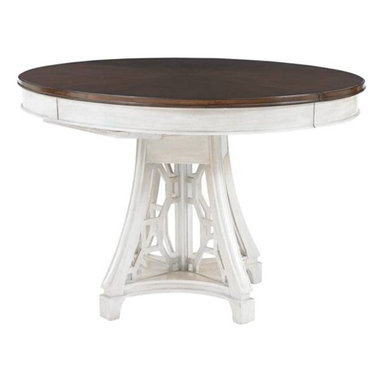 Stanley Furniture - Round Table - The Oval Table offers a casual dining option highlighted by two contrasting finishes.