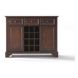 Crosley - LaFayette Buffet Server-Sideboard Cabinet with Wine Storage - Dimensions: 18 x 47.8 x 36 inches