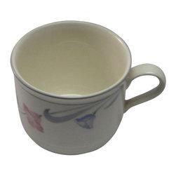 Lenox - Lenox Glories On Grey Tea Cup - Lenox Glories On Grey Tea Cup