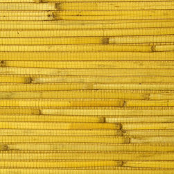 Walls Republic - Reed Yellow Natural Grass Cloth Wallpaper, Double Roll - Reed wallpaper creates a warm, interesting backdrop for many different types of decor. Made from natural, sustainable materials, it is considered an environmentally friendly choice.