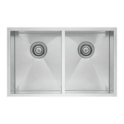 Blanco - BLANCO QUATRUS R0 Stainless Steel Equal Double Bowl Undermount Sink - BLANCO 518170 QUATRUS R0 Stainless Steel Equal Double Bowl Undermount sink
