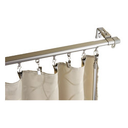 None - Regal Silver Adjustable Curtain Track With Sliders - Design like a pro while redecorating your living space with this extremely smooth Regal baton draw operating track with sliders. This adjustable curtain track will revitalize any window of you home to suit your desired style.