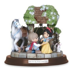 """Precious Moments - Precious Moments 'Wish Come True' Musical Scene - This deluxe edition musical features the colors and scenery made famous in Disney's Snow White. It plays """"Some Day My Prince Will Come."""""""