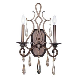 Maxim Lighting - Maxim Lighting 109HR Chic 2-Light Wall Sconce In Heritage - Features