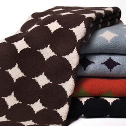 Big Dots Knit Throw - Big Dot throw is knit with a blend of recycled cotton yarn and made in the USA.