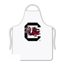 Sports Coverage - South Carolina Gamecocks Tailgate Apron - Collegiate South Carolina University Gamecocks White screen printed logo apron. Apron is 100% cotton twill with screenprinted logo. One Size fits all.