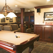 Traditional Basement by Ed Saloga Design Build