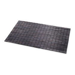 WS Bath Collections - Tapie Shower Mat - Tapie 7217 by WS Bath Collections Shower Mat in Teak Wood Black, Water Resistant For Use Inside or Outside of Shower, Made in Italy