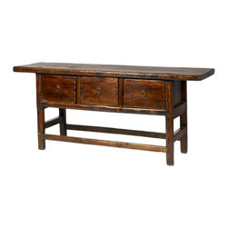 Vintage Chinese Butcher's Table - I love the bold traditional look going on with this console, and the drawers are a plus.