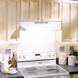 Broan-NuTone - Broan 30W in. Ventless Under Cabinet Range Hood - 413001 - Shop for Hoods and Accessories from Hayneedle.com! Easy to install the Broan 30W in. Ventless Under Cabinet Range Hood is a non-ducted solution to improve your kitchen's ventilation. It simply pulls the air in with its durable fan traps unwanted pollutants in its combination grease-charcoal filter and recirculates the air for a fresher cleaner kitchen. A protective lamp lens is a bonus feature and just like the fan turns on with a simple flip of a switch. Available in a variety of colors you'll find that this hood not only improves air quality in your kitchen but also enhances its decor.About Broan-NuTone Ventilation:Broan-NuTone has been leading the industry since 1932 in producing innovative ventilation products and built-in convenience products all backed by superior customer service. Today they're headquartered in Hartford Wisconsin employing more than 3200 people in eight countries. They've become North America's largest producer of residential ventilation products and the industry leader for range hoods ventilation fans and heater/fan/light combination units. They are proud that more than 80 percent of their products sold in the United States are designed and manufactured in the U.S. with U.S. and imported parts. Broan-NuTone is dedicated to providing revolutionary products to improve the indoor environment of your home in ways that also help preserve the outdoor environment.