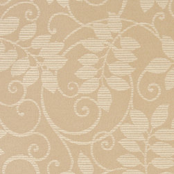 Beige And Ivory Vines Leaves Outdoor Indoor Marine Upholstery Fabric By The Yard - This material is an upholstery grade outdoor and indoor fabric. It is stain, water, mildew, bacteria and fading resistant. It is also Scotchgarded for further stain resistance and durability. This material is woven for superior appearance.