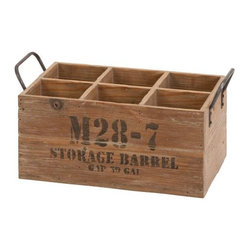 Home Decorators Collection - Rustic Wood Wine Crate - Our Rustic Wood Wine Crate lets you store or display your favorite wines while adding interest to your bar area. The sturdy wood construction and weathered look adds an Old World Charm that is sure to grab the attention of friends and guests. Natural wood finish. Holds up to six wine or liquor bottles.