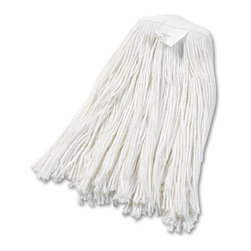 UNISAN - UNISAN Cut-End Wet Mop Head, Rayon, No. 20, White - Clean up quicker with a high-quality, ultra-absorbent mop head. Cut-end design minimizes snags. Heavy-duty headband ensures secure attachment. For use with clamp-style mop handles (sold separately).