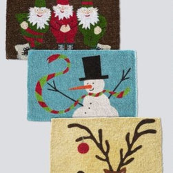 Hable Construction - Hable Holiday Coir Doormat - Elves - 2 - Greet the season at the front door with printed coir doormats made from the natural fibers of coconut shell husks. For use only in covered outside areas or indoors. 24 x 36 inches. By Hable Construction.