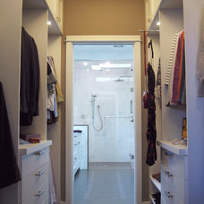 Transitional Closet by Corey Klassen Interior Design