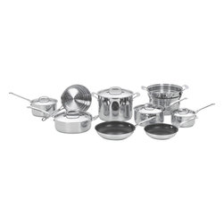 Cuisinart - Cuisinart Chef's Classic Stainless Steel Cookware Set - Brilliant stainless steel finish for classic look and professional performance