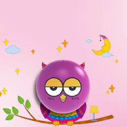 Decorative Cartoon Owl Wall Night Light for Baby - ● Light Control Switch: Light on automatically at night,light off automatically at day. ● Working Life: over 100,000hrs ● Energy Saving: 1kwh per year ● Multi-functional ● The paster is recyled,and it can be pasted on smooth surface,like glass,ceramic tile,etc.