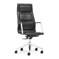 ZUO MODERN - Luminary High Back Office Chair Black - Luminary High Back Office Chair Black
