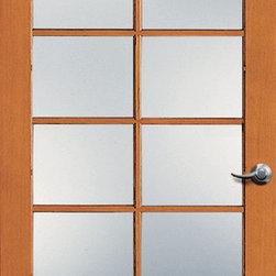 Authentic Wood Doors - Vertical Grain Douglas Fir Glass French Door 10-Lite Clear