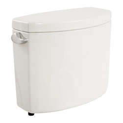 "TOTO - TOTO ST454E-01 Drake II Toilet Tank and Cover, Cotton White - TOTO ST454E-01 Drake II Toilet Tank and Cover, Cotton White TOTO ST454E-01 Drake II Toilet Tank and Cover, Cotton White Features: For use with Toto C454CEFG Bowl from the Drake II Collection 1.28 GPF Double Cyclone Flushing System Wide, 2-1/8"" computer-designed trapway Universal Height; ADA height compliant with seat WaterSense(R) certified Tank and cover only requires bowl Toto C454CEFG Tank ONLY"
