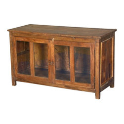 Sierra Living Concepts - French Casement Glass Door Teak Wood Sideboard Buffet Cabinet - Simple styling and superior craftsmanship produces extraordinary furniture. Case in point: take a look at our French Casement Glass Door Cabinet.