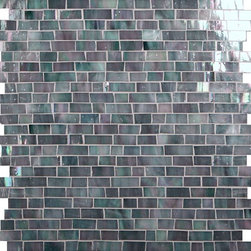 "Glass Tile Oasis - Iron Random Bricks Grey Bathroom Glossy & Iridescent Glass - Sheet size:  12 1/2"" x 13 1/2""     Tile Size:  Random Bricks     Tiles per sheet:  264     Tile thickness:  1/8""      Grout Joints:  1/8""     Sheet Mount:  Mesh Backed     NOTE: Iridescent colors not recommended for water line applications in pools/spas   Sold by the sheet      - Bring bold  dazzling style to any space with Victorian  a collection made from vibrant stained glass. This series stands out for its beautiful patterns and meticulous attention to detail. The mesh-backed tiles come in varying sizes depending on the design  and they are suitable for variety of interior and outdoor spaces."