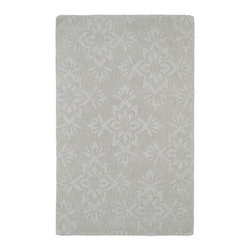 "Kaleen - Contemporary Imprints Classic Hallway Runner 2'6""x8' Runner Ivory Area Rug - The Imprints Classic area rug Collection offers an affordable assortment of Contemporary stylings. Imprints Classic features a blend of natural Ivory color. Hand Tufted of 100% Wool the Imprints Classic Collection is an intriguing compliment to any decor."