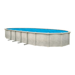Blue Wave - Blue Wave Tahitian Oval 54 Inch Hybrid Pool - 15 ft x 33 ft - Features:
