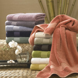 Kassatex - Bamboo Blend Bath Towel Collection - Eco-friendly Bamboo blend towels are plush, soft and ultra-absorbent with a velvet-like look and feel. Rayon from Bamboo is blended with combed Egyptian Cotton in these plush bath towels. With 12 decorator colors to mix and match, these have been a favorite of interior designers for years. Experience the luxury of Bamboo, still our one of our bestselling collections after six years.