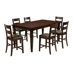 Steve Silver Gibson 7 Piece 48x42 Counter Height Set w/ Counter Height Chairs in