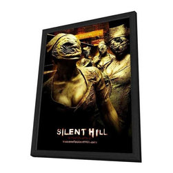 Silent Hill 11 x 17 Movie Poster - Style J - in Deluxe Wood Frame - Silent Hill 11 x 17 Movie Poster - Style J - in Deluxe Wood Frame.  Amazing movie poster, comes ready to hang, 11 x 17 inches poster size, and 13 x 19 inches in total size framed. Cast: Christopher Britton