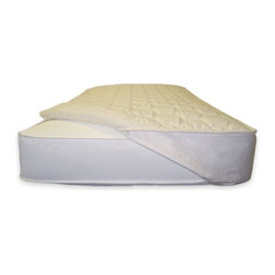 Naturepedic Organic Non-waterproof Full & Queen w/ Strapes Quilted Mattress Topp - Naturepedic Organic Non-waterproof Full & Queen w/ Strapes Quilted Mattress Topper