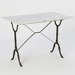 Vintage Marble Console Table - I have this table. I found it on Craigslist at a steal. I can't wait to use it for upcoming get-togethers.