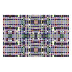 Domestic Construction - One x One Floor Mat, Small - The colors and pattern in this mosaic add an element of modern tribal vibe to an otherwise ordinary household item. Any entryway with a bold floor mat like this would be instantly infused with warmth and personality. And the material is machine washable so you don't have to worry about keeping your floor art clean and pristine.