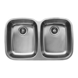 Ukinox - Ukinox D376.50.50.10 Double Kitchen sink - These formal rectangular and square Kitchen Sinks are both large and deep, while space conscious at the same time. Large pots, pans and utensils are easily accommodated in these roomy, classically styled Kitchen Sinks, while the depth allows you to tackle any cooking or cleaning task with unprecedented ease.