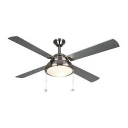 Hampton Bay - Indoor Ceiling Fans: Hampton Bay Merope 52 in. Indoor Satin Nickel Ceiling Fan H - Shop for Lighting & Fans at The Home Depot. 52 in. pull chain control fan, quiet and good function, light kit and down rod included