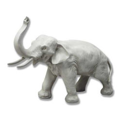 Orlandi Statuary - Charging Elephant Garden Statue Multicolor - F277CHARGINGELEPHANT - Shop for Statues and Sculptures from Hayneedle.com! Add a touch of the exotic to your outdoors with the Charging Elephant Garden Statue. Cast in a weather-resistant fiberglass resin and time-hardened this statue features a hand-applied finish designed to bring out the details. The finish is non-peeling. The resin is also lightweight making the statue more portable than statues made of stone or concrete. Intricate details like wrinkled skin thin ears and delicately carved elephantine facial features give this garden statue its one-of-a-kind appeal.About Orlandi StatuaryBorn in 1911 when Egisto Orlandi traveled from Lucca Italy to Chicago Illinois Orlandi Statuary quickly set the standard for excellence in their industry. Egisto took great pride in his craft and reputation and which is why artists interior designers and museums relied upon the careful details and impeccable quality he demanded. Over the years they've evolved into a company supplying more than statuary. Orlandi's many collections today include fiber stone for the garden religious statuary fountains columns and pedestals. Their factory and showroom are still proudly located in Chicago where after 100 years they remain an industry icon.