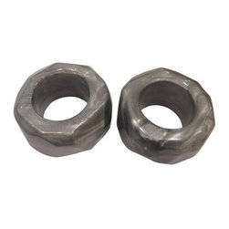 Grey Resin Napkin Rings - Set of 4 - $112 Est. Retail - $112 on Chairish.com -