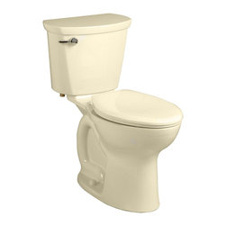 "American Standard - American Standard 215A.A104.021 Cadet Pro Right Height Elongated Toilet, Bone - American Standard 215A.A104.021 Cadet Pro Right Height Elongated Toilet, Bone. This vitreous china constructed elongated toilet meets EPA WaterSense criteria, a trade-exclusive tank, a PowerWash rim that scrubs the bowl with each flush, a robust metal left-sided trip lever/metal shank fill valve assembly, an EverClean surface, a 4"" piston-action Accelerator flush valve, a 12"" Rough-in, a chrome finish trip lever, and a fully-glazed 2-3/8"" trapway."