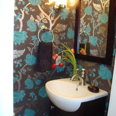 Eclectic Powder Room by Vani Sayeed Studios