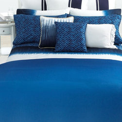 Lauren Ralph Lauren Bedding, Indigo Modern Duvet Cover - Ombré is all the rage right now, and so is bold blue. I love this nautical look.