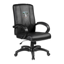 Dreamseat Inc. - Ski Cross Country Home Office Chair - Check out this awesome - it's one of the coolest things we've ever seen. Features a zip-in-zip-out logo panel embroidered with 70,000 stitches. Converts from a solid color to custom-logo furniture in seconds - perfect for a shared or multi-purpose room. Root for several teams? Simply swap the panels out when the seasons change. This is a true statement piece that is perfect for your Man Cave or Home Office, and it's a must-have for the person who wants to personalize their work space.