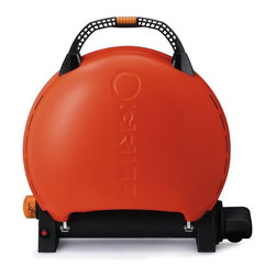 Pro-Iroda - O-Grill Portable Upright Gas Grill 600, Orange - -Porcelain-enameled cast iron cooking grid