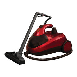 Ewbank Steam Dynamo Carpet Steamer with Attachments, Red - The Ewbank SC1000 Steam Dynamo Carpet Cleaner is a powerful steam cleaner that uses steam to eliminate grease, dirt, mold and stains and with a multiple attachments, the Dynamo is perfect for floor to ceiling cleaning. The Steam Dynamo works best in the home, car interior or office space. The Dynamo features an easy access, on-board storage compartment at the front of the steamer for quick and easy access to all cleaning attachments. Includes floor head cleaner with brush, window/tile cleaner, nylon brush and mini nylon brush, push button nozzle adapter with jet nozzle, 2 extension tubes, water jug and funnel and a towel bonnet. The Steam Dynamo is environmentally friendly and requires no chemicals. It disinfects using water only. This model has a 50-ounce tank capacity for 45-minutes of steam cleaning and an 8.2-foot power cord for extra mobility. 1500-watt steam cleaner. The Ewbank SC1000 Steam Dynamo Carpet Cleaner comes with a 1-year limited warranty that protects against defects in materials and workmanship. Ewbank has been providing innovative cleaning solutions for an impressive 125-years. Innovative design, reliability and customer satisfaction are always top priority, making Ewbank a staple in most households. Ewbank's multi-purpose products, including floor polishers, vacs and steam cleaning solutions are all offered at affordable prices, meaning that Ewbank is always the practical solution to everyday cleaning.