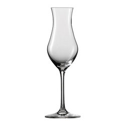 Frontgate - Set of Six Schott Zwiesel Grappa/Transparent Spirits Glasses - Holds 5.6 oz.. Designed exclusively by Schott Zwiesel. Break resistant with added strength at the rim, bowl, and stem. The hardest, most brilliant crystal glass in the world. Remarkable clarity, brilliance, and luster. Now you can serve classic aperitifs and digestifs like grappa, vermouth and brandy in style. Our Schott Zwiesel Grappa/Clear Spirits Glasses offer the look and weight of glass without the fragility. By replacing the lead content with titanium and zirconium, these refined glasses resist chips, cracks, and scratches. This technology creates lasting durability and longer life for the stemware, without compromising the aesthetic quality of the glasses. Tritan Crystal is used by renowned sommeliers, restaurants, cruise lines, and resorts worldwide.  . . . . . Proven through independent testing to be fully dishwasher safe. No lead content. Made in Germany.