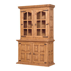 Country Pine Hutch and Buffet - Very traditional hutch and buffet. Old world looks, Solid wood construction and paneled doors make this a classic.
