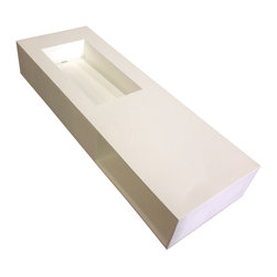 ADM - ADM Wall Hung Solid Surface Stone Resin Sink, Matte - DW-195