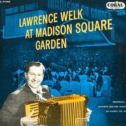 "Adonis Collection - Adonis Collection | Framed Album, New York - Lawrence Welk, ""Lawrence Welk at Madison Square Garden,"" framed album artwork. Released in 1956 by Coral Records."